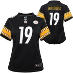 Nike JuJu Smith-Schuster Pittsburgh Steelers Girls Youth Black Game Jersey