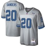 Mitchell & Ness Barry Sanders Detroit Lions Platinum NFL 100 Retired Player Legacy Jersey
