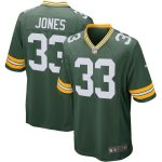 Nike Aaron Jones Green Bay Packers Green Player Game Jersey