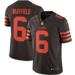 Nike Baker Mayfield Cleveland Browns Brown Color Rush Vapor Limited Jersey