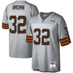 Mitchell & Ness Jim Brown Cleveland Browns Platinum NFL 100 Retired Player Legacy Jersey