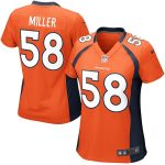 Nike Von Miller Denver Broncos Girls Youth Orange Game Jersey