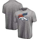 Majestic Denver Broncos Gray Showtime Pro Grade Cool Base T-Shirt