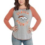 Touch by Alyssa Milano Denver Broncos Women's Gray/Orange Line Drive T-Shirt