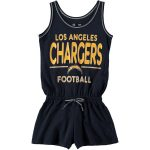5th & Ocean by New Era Los Angeles Chargers Girls Youth Navy Baby Jersey Romper