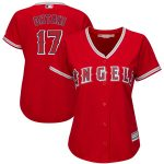 Majestic Shohei Ohtani Los Angeles Angels Women's Scarlet Cool Base Player Jersey