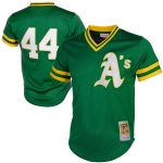 Mitchell & Ness Reggie Jackson Oakland Athletics Green Cooperstown Mesh Batting Practice Jersey