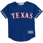 Majestic Texas Rangers Youth Royal Official Cool Base Jersey