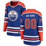 Fanatics Branded Edmonton Oilers Women's Royal Alternate Breakaway Custom Jersey