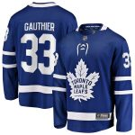 Fanatics Branded Frederik Gauthier Toronto Maple Leafs Blue Home Breakaway Player Jersey