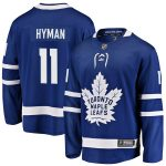 Fanatics Branded Zach Hyman Toronto Maple Leafs Blue Breakaway Player Jersey