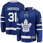 Fanatics Branded Frederik Andersen Toronto Maple Leafs Blue Breakaway Player Jersey