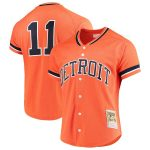Mitchell & Ness Sparky Anderson Detroit Tigers Orange Fashion Cooperstown Collection Mesh Batting Practice Jersey