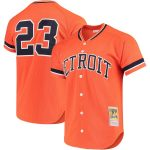 Mitchell & Ness Kirk Gibson Detroit Tigers Orange Fashion Cooperstown Collection Mesh Batting Practice Jersey