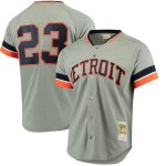 Mitchell & Ness Kirk Gibson Detroit Tigers Gray Fashion Cooperstown Collection Mesh Batting Practice Jersey