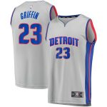 Fanatics Branded Blake Griffin Detroit Pistons Gray 2019/20 Fast Break Replica Jersey - Statement Edition