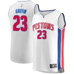 Fanatics Branded Blake Griffin Detroit Pistons White Fast Break Replica Player Jersey - Association Edition