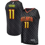Fanatics Branded Trae Young Atlanta Hawks Black Fast Break Replica Jersey - Icon Edition
