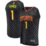Fanatics Branded Evan Turner Atlanta Hawks Black Fast Break Replica Jersey - Icon Edition