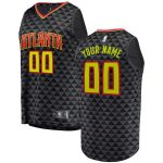 Fanatics Branded Atlanta Hawks Black Fast Break Custom Replica Jersey - Icon Edition