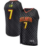 Fanatics Branded Jeremy Lin Atlanta Hawks Black Fast Break Replica Jersey - Icon Edition