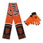 San Francisco Giants Women's Gloves And Scarf Set