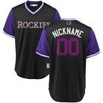 Majestic Colorado Rockies Black/Purple 2018 Players' Weekend Cool Base Pick-A-Player Roster Jersey