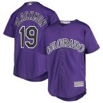 Majestic Charlie Blackmon Colorado Rockies Youth Purple Alternate Official Cool Base Player Jersey