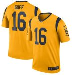 Nike Jared Goff Los Angeles Rams Gold Color Rush Legend Player Jersey
