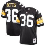 Mitchell & Ness Jerome Bettis Pittsburgh Steelers Black 1996 Authentic Throwback Retired Player Jersey