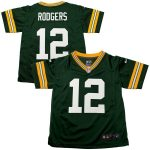 Nike Aaron Rodgers Green Bay Packers Preschool Green Game Jersey