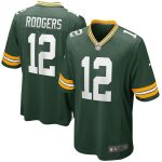 Nike Aaron Rodgers Green Bay Packers Green Game Jersey