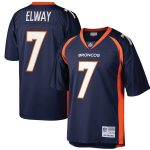 Mitchell & Ness John Elway Denver Broncos Navy Retired Player Legacy Replica Jersey