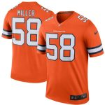 Nike Von Miller Denver Broncos Orange Color Rush Legend Jersey