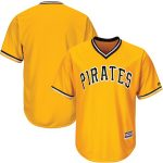 Majestic Pittsburgh Pirates Gold Official Cool Base Team Jersey