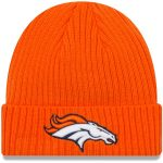 Denver Broncos New Era Orange NFL Core Classic Cuffed Knit Hat