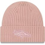 New Era Denver Broncos Women's Light Pink Team Glisten Rouge Cuffed Knit Hat