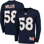 Majestic Von Miller Denver Broncos Navy Eligible Receiver II Name & Number Long Sleeve T-Shirt