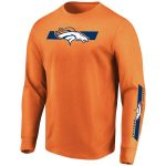 Majestic Denver Broncos Orange Big & Tall Dual Threat Long Sleeve T-Shirt