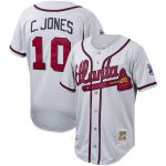 Chipper Jones Atlanta Braves Mitchell & Ness Cooperstown Collection Authentic Jersey - Gray