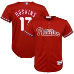 Rhys Hoskins Philadelphia Phillies Youth Red Player Replica Jersey