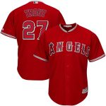 Majestic Mike Trout Los Angeles Angels Scarlet Alternate Big & Tall Cool Base Player Jersey