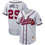 John Smoltz Atlanta Braves Mitchell & Ness Cooperstown Collection Authentic Jersey - Gray