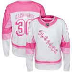 Henrik Lundqvist New York Rangers Girls Youth White Fashion Player Jersey