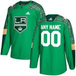 adidas Los Angeles Kings Green St. Patrick's Day Custom Practice Jersey
