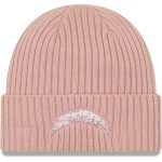 New Era Los Angeles Chargers Women's Light Pink Team Glisten Rouge Cuffed Knit Hat