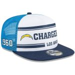 New Era Los Angeles Chargers White/Blue 2019 NFL Sideline Home Alternate 9FIFTY 1970s Snapback Adjustable Hat