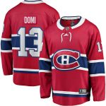 Fanatics Branded Max Domi Montreal Canadiens Red Home Breakaway Player Jersey