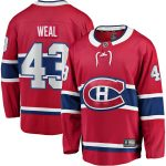 Fanatics Branded Jordan Weal Montreal Canadiens Red Home Breakaway Player Jersey