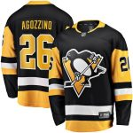 Fanatics Branded Andrew Agozzino Pittsburgh Penguins Black Home Breakaway Player Jersey